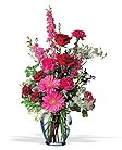 Click to order the Pink and Burgundy Clear Vase.